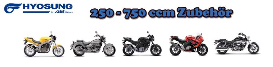 250ccm - 750 ccm